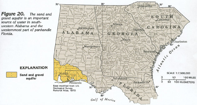 Underneath Us Is What Is Called The Pensacola Sand Gravel Aquifer Figure 20 This Aquifer Is Made Up Generally Of Sand